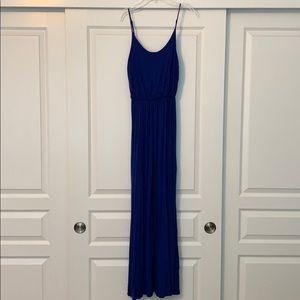 Lush navy blue maxi dress